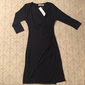 Black sheath dress.